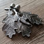Leaves casted in silicone moulds